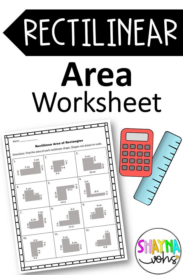 Rectilinear Area Worksheets Digital Area Worksheets Area Worksheets Learning Worksheets Teaching Geometry