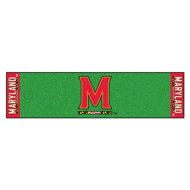 Ncaa University of Maryland 1 ft. 6 in. x 6 ft. Indoor 1-Hole Golf Practice Putting Green