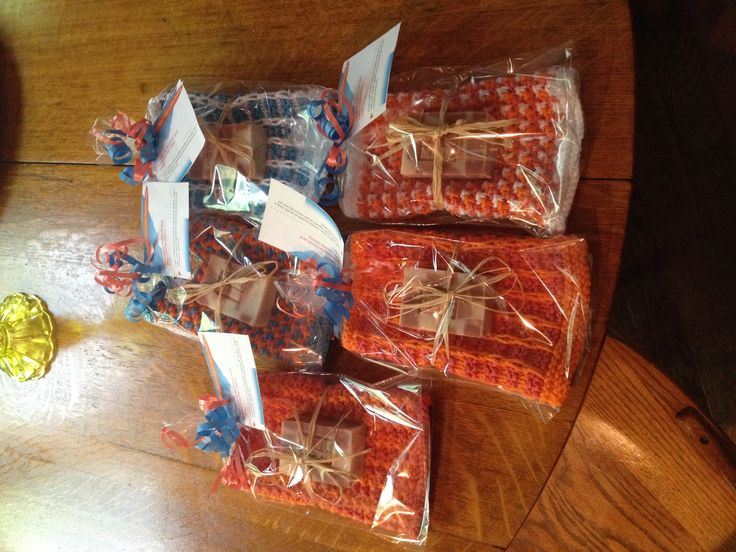 Face cloth Favors wrapped w soap