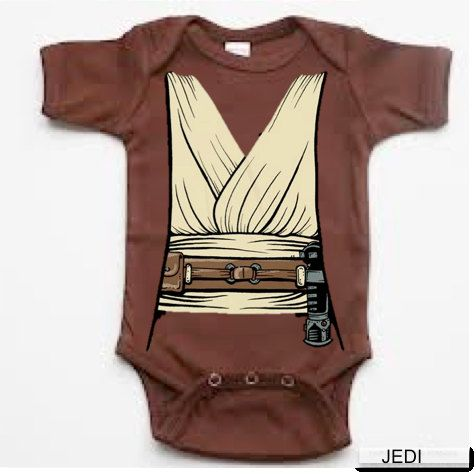 In honor of #StarWars being crowned our #BestSummerMovieEver, here's some of the best SW swag out there - Jedi Obiwan Onesie Star Wars baby infant bodysuit @Jim Schachterle Schachterle Bridges
