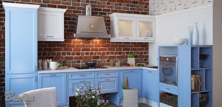 Голубые кухни в стиле Прованс: фото, описание, цены