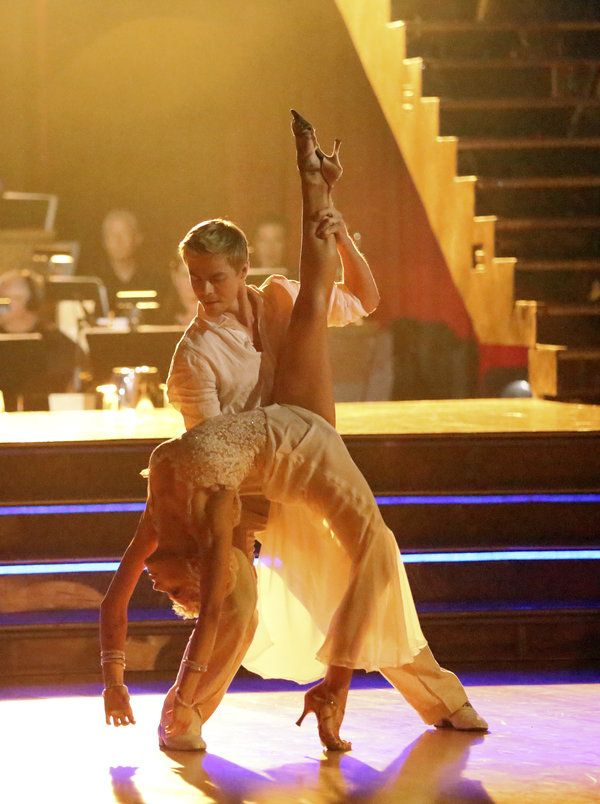 Derek Hough & Kellie Pickler  -  Dancing With the Stars  -  week 4  - season 16  -  spring 2013  -  celebrating the best year of each celeb's life  -  for Kelly that was when she married her husband  -  who wrote, played, & sang the song she & Derek danced to
