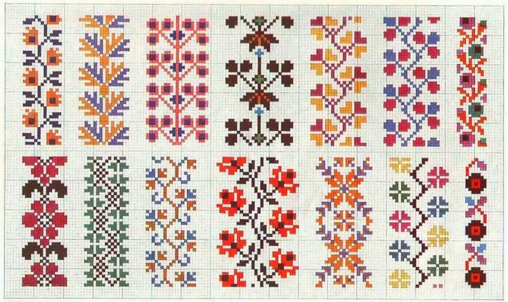 Border 74 | Free chart for cross-stitch, filet crochet | gancedo.eu
