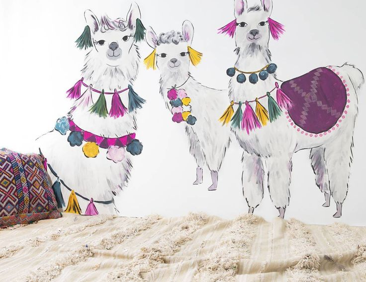"""48 Likes, 2 Comments - Raewyn Pope Illustration (@raewynpope) on Instagram: """"A couple of lovely llama ladies lounging around on the set of the @pumpkinpatchkids Summer 16…"""""""