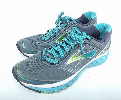 dabcbc0f058 Brooks Ghost 9 Womens Size 9 Shoes Gray Blue Excellent