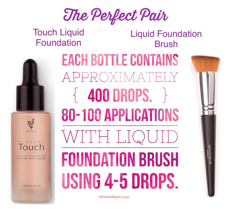 Younique's Liquid Foundation works best with the liquid foundation brush.