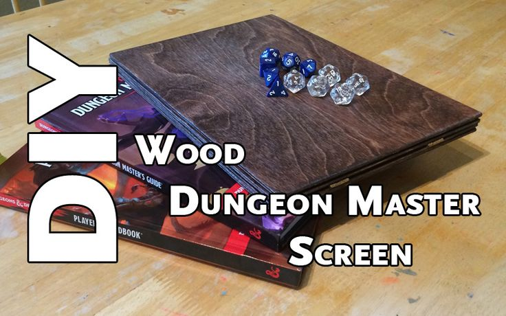 Article how to make your own wooden DM screen.