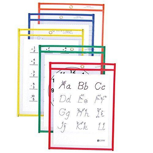 Kieszenie C-Line wielokrotnego użytku Dry Erase, 9 x 12