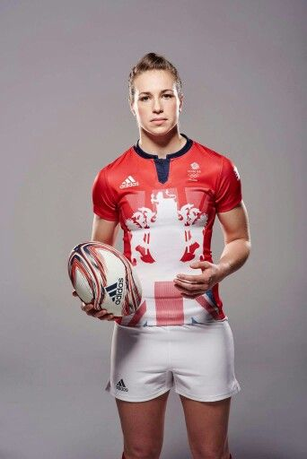 Emily Scarrat in Team GB kit #rugby #womensrugby #teamgb #rio2016 #Olympics