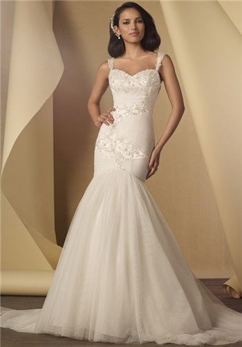 Alfred Angelo Soft Net Overlay Sweetheart Fit And Flare
