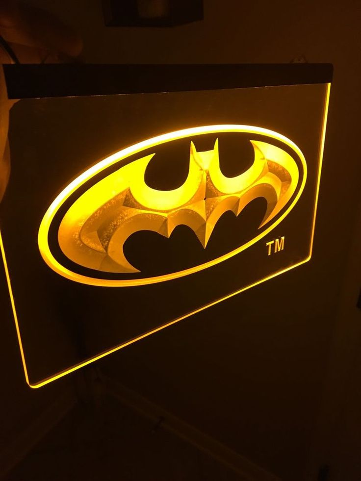 BATMAN Signal Led Neon Sign for Game Room,Office,Bar,Man Cave *Brand New*