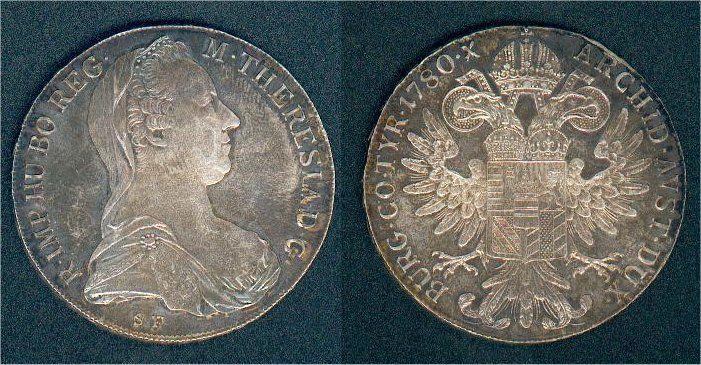 Maria Theresia Taler 1780 NP Österreich vorzüglich.