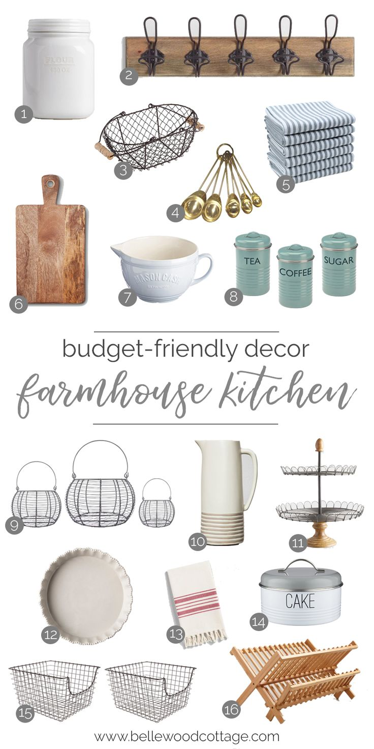 Not ready to commit to a full kitchen remodel? Join me as I share some of my favorite farmhouse kitchen decor that will transform your space quickly and easily. No power tools required!