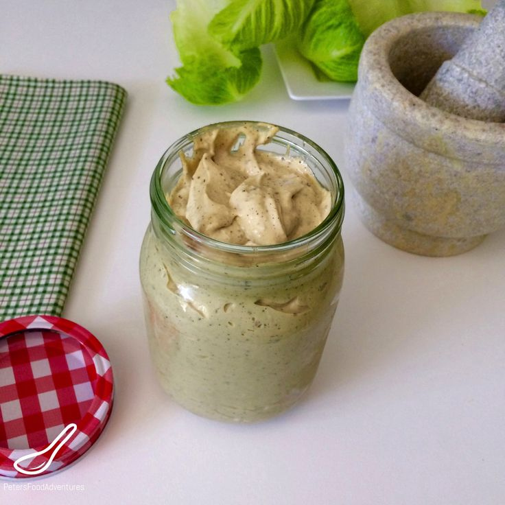 Homemade Thick and Creamy Caesar Salad Dressing Made From Scratch. So Easy To Make. A Little Goes A Long Way.