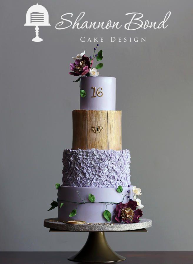 secret garden sweet 16 cake cake by shannon bond cake design