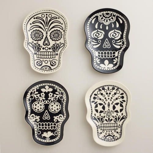 Muertos Plates at Cost Plus World Market >> #WorldMarket Halloween #HalloweenDecor #HalloweenEntertaining
