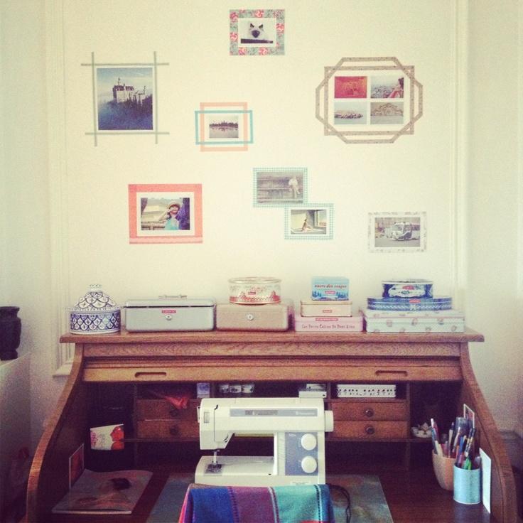 Washi tape frames!