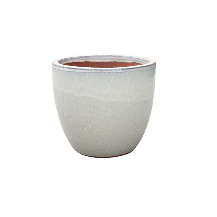 Northcote Pottery 35cm Primo Cream Mod Egg Glazed Pot