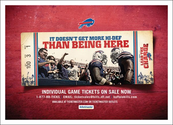 Buffalo Bills print ad concept by Whit Thompson, via Behance