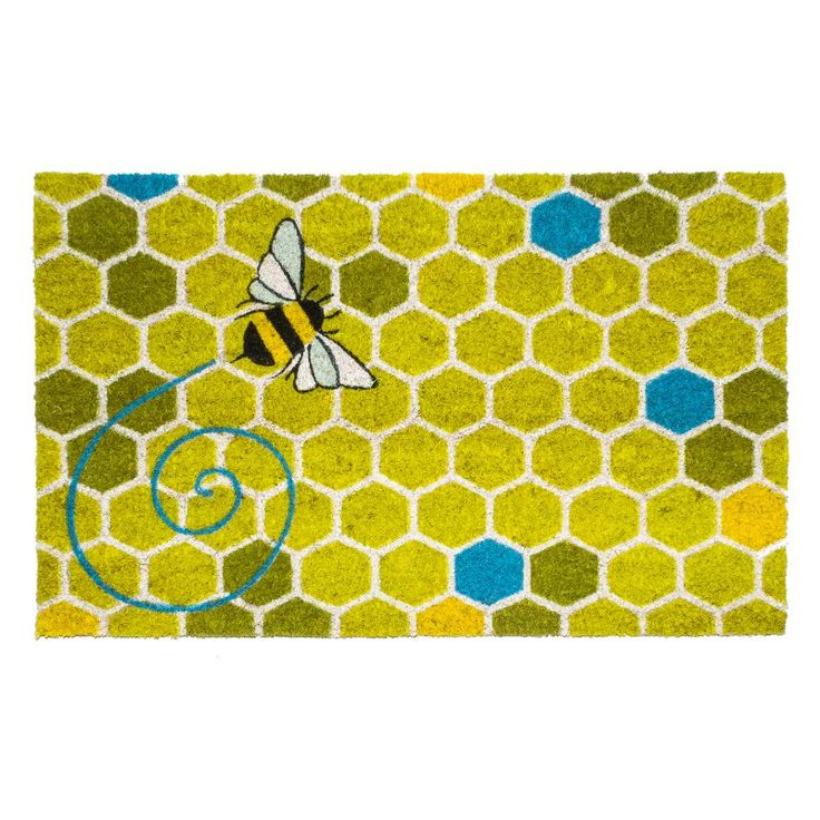 Entryways Honeycomb Non-Slip Coir Doormat - P2111