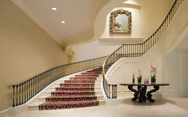 Best Interior Classy Grand Staircases Design Unique Red Carpet