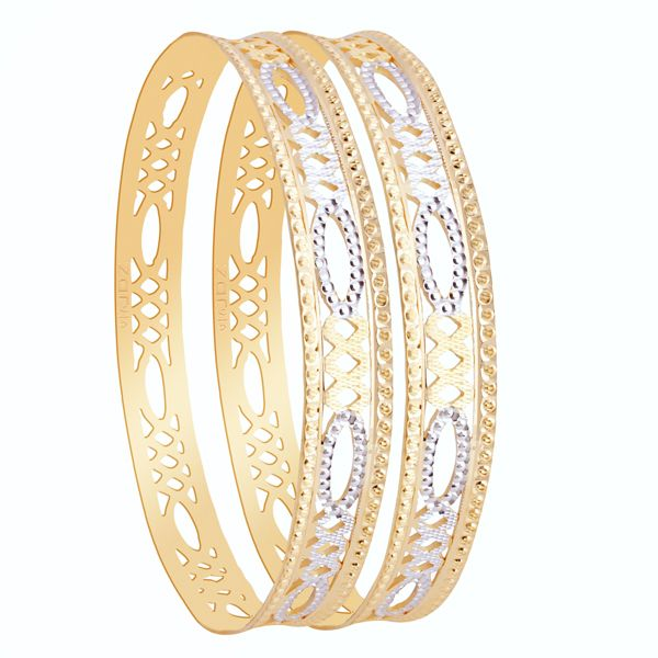 Diamond studded gold bangle to suit your style.