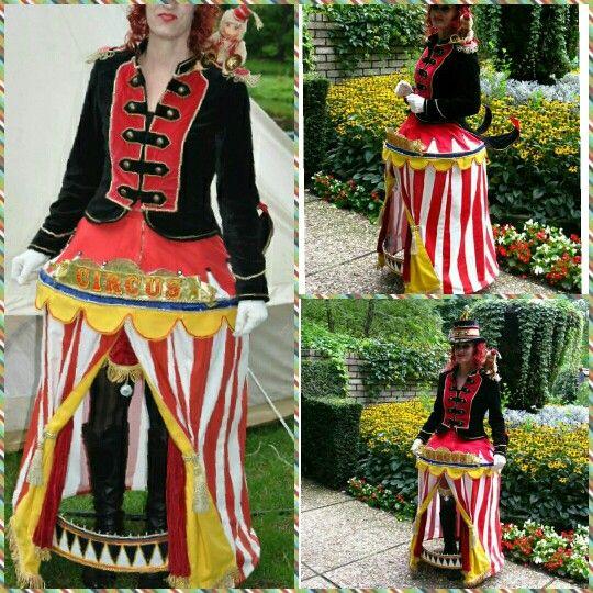 """Een mooi kostuum voor de carnaval.  """"Circus"""" prachtig!"""