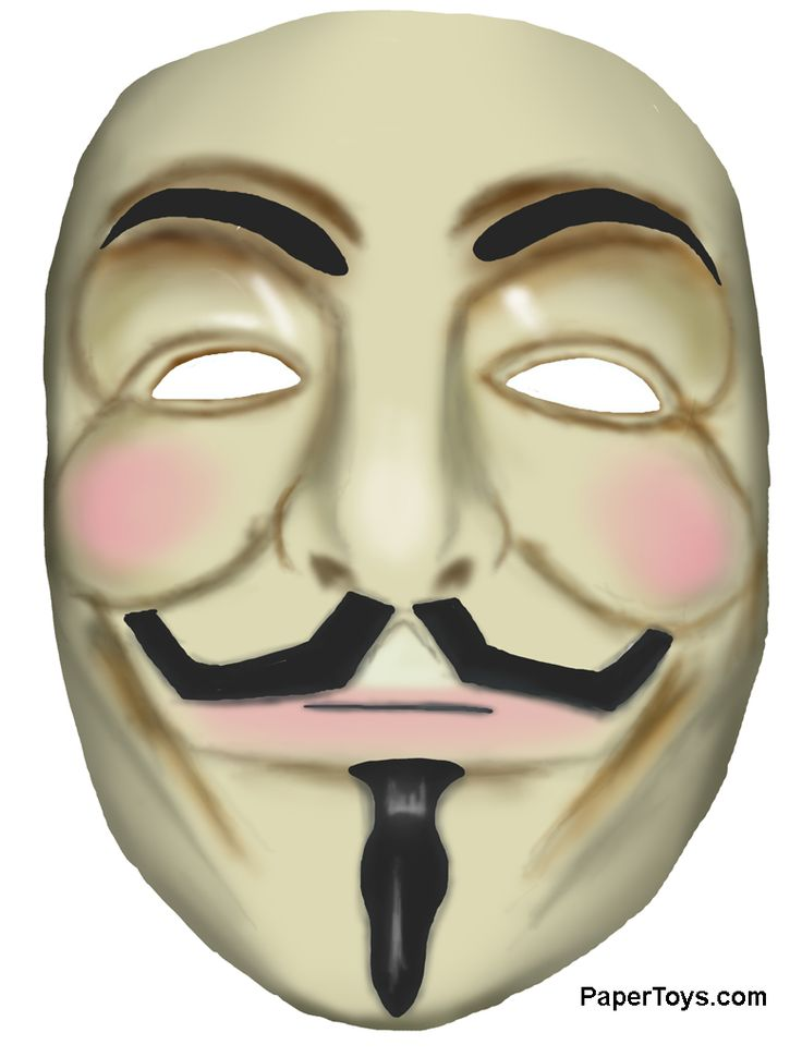 Guy Fawkes Printable mask! Just print, cut and stick it on ...