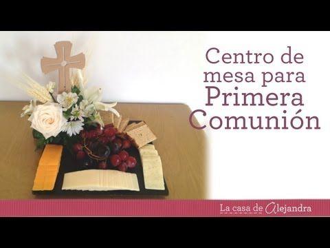 C mo hacer un centro de mesa para primera comuni n con queso uvas y trigo videos - Como hacer centros de mesa para comunion ...