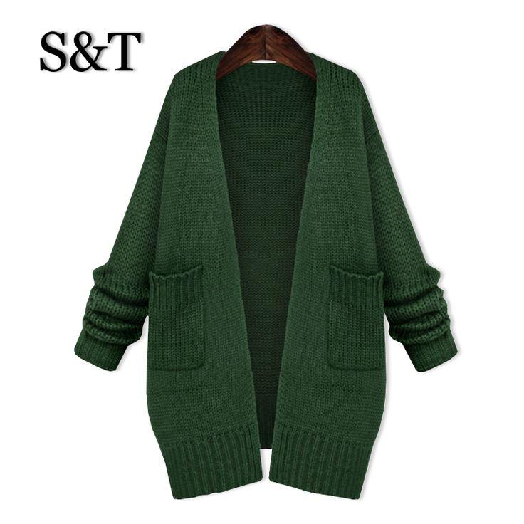 Купить товарВесна европа женщины свитер куртка и длинная участки без тары большой ярдов длинный рукав свитер женщины кардиган свитер в категории Кардиганына AliExpress.