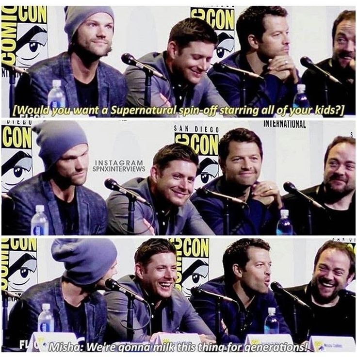 "Jensen looks excited but Jared is all ""that would be a nightmare"""