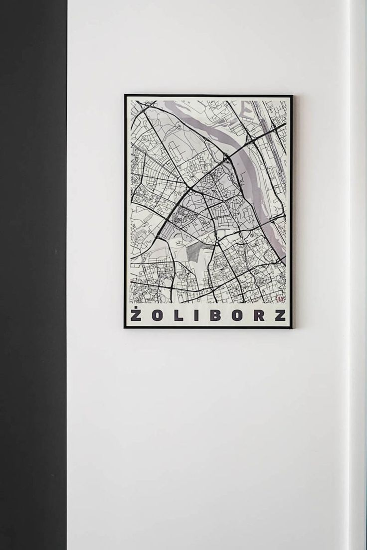 Mapa Żoliborza | tryc.pl  #mapa #warszawa #żoliborz #homedecor #wall #picture #decoration #polishdesign #polskidesign #projektowanie #wnętrza #interiors