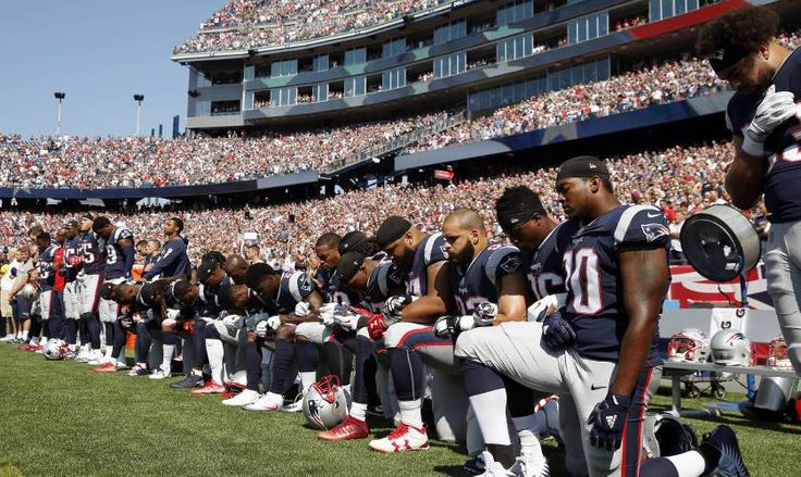 Image result for While Some New England Patriots Were Protesting the National Anthem, One Player Stood Out...