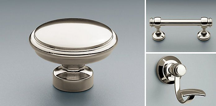 Lugarno Hardware Collection - Polished Nickel | RH