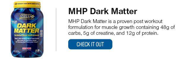 Mhp Dark Matter Post Workout Drink Dark Matter Post Workout Shake