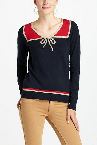 Tied Illusion Pullover - Anthropologie.com