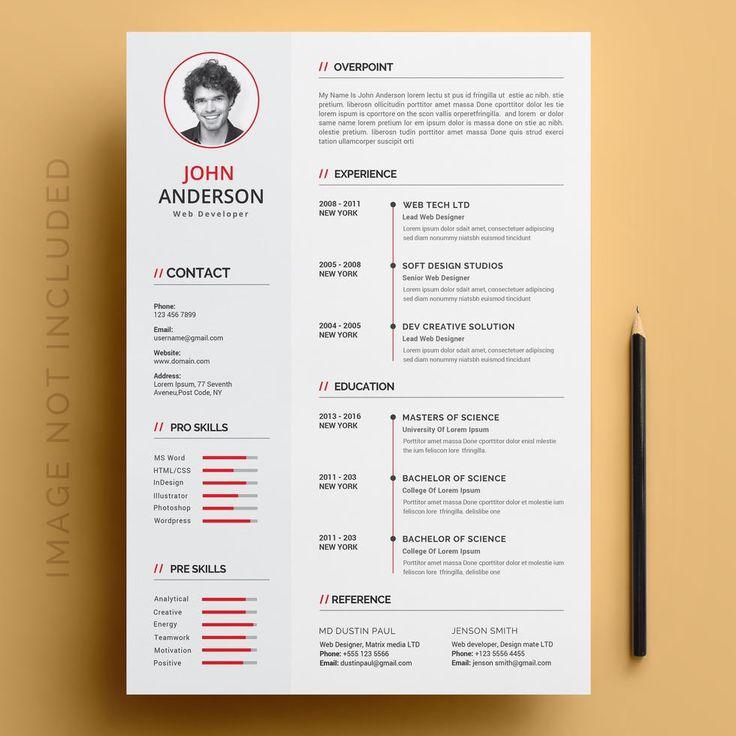 Resume template Graphic designer resume template
