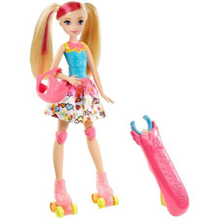 Barbie Video Game Hero Light-Up Skates Barbie Doll