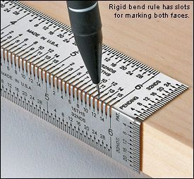 A great tool to measure and mark wood, for super accurate cuts.