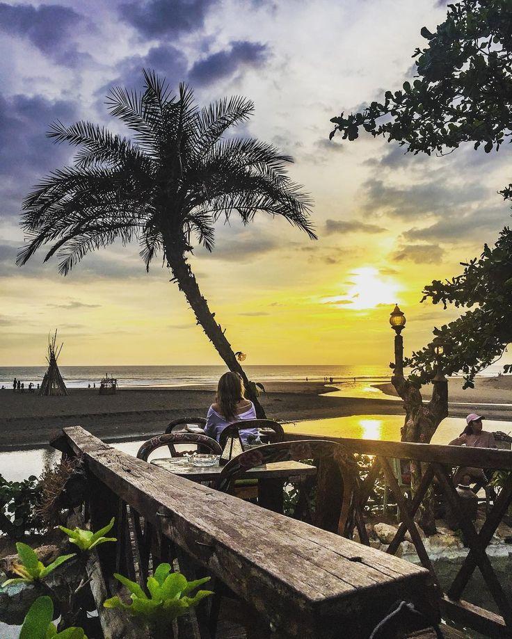 Beautiful sunset from our Bridge - La Laguna Bali   #sunset #balimagic #bohemian #islandlife #wooddesign #gipsymagic #enchanted #beautifulbeach #indonesia #balibible