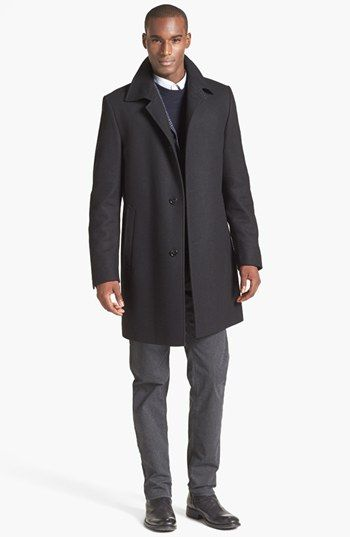 BOSS HUGO BOSS Car Coat & Straight Leg Pants  available at #Nordstrom