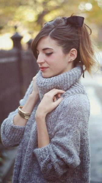 Winter styling tip: try a turtleneck