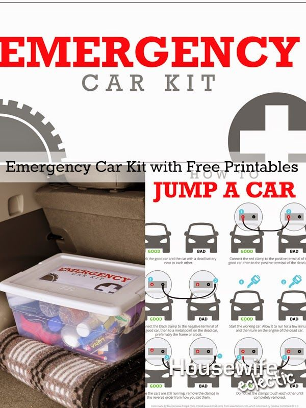 Housewife Eclectic: Emergency Car Kit with Free Printables