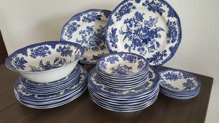 Wedgwood Asiatic Pheasants Blauw