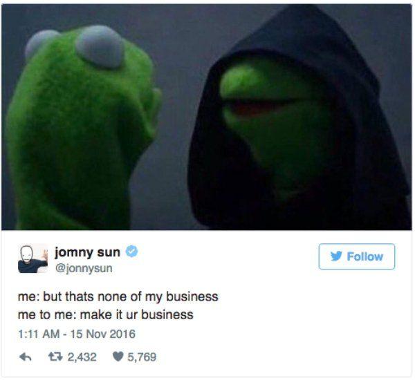 Funny Dark Kermit Meme : Evil kermit meme seeks to seduce us all the dark side