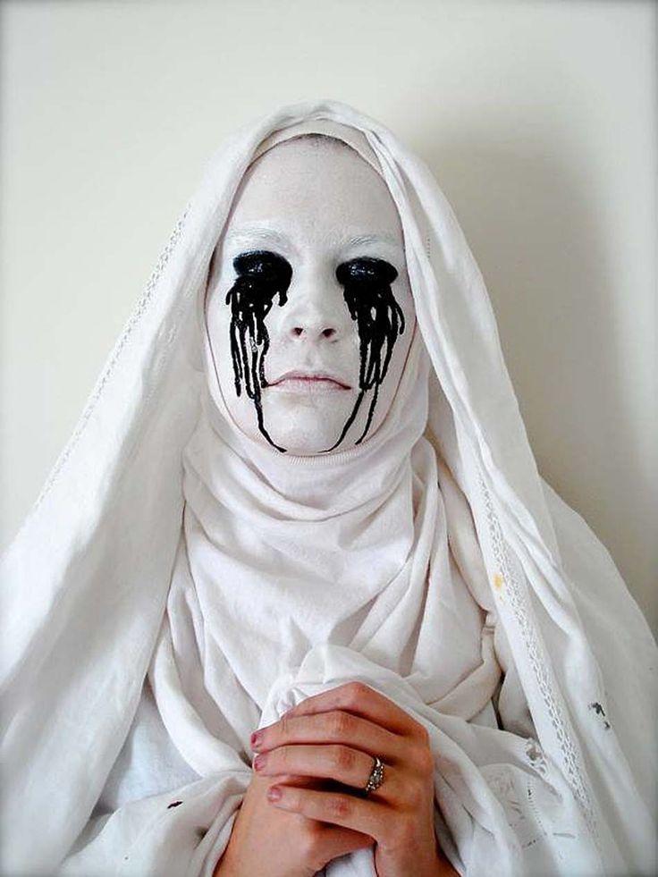 Les 25 meilleures id es de la cat gorie maquillage halloween sur pinterest maquillage pour le - Maquillage halloween moitie visage ...