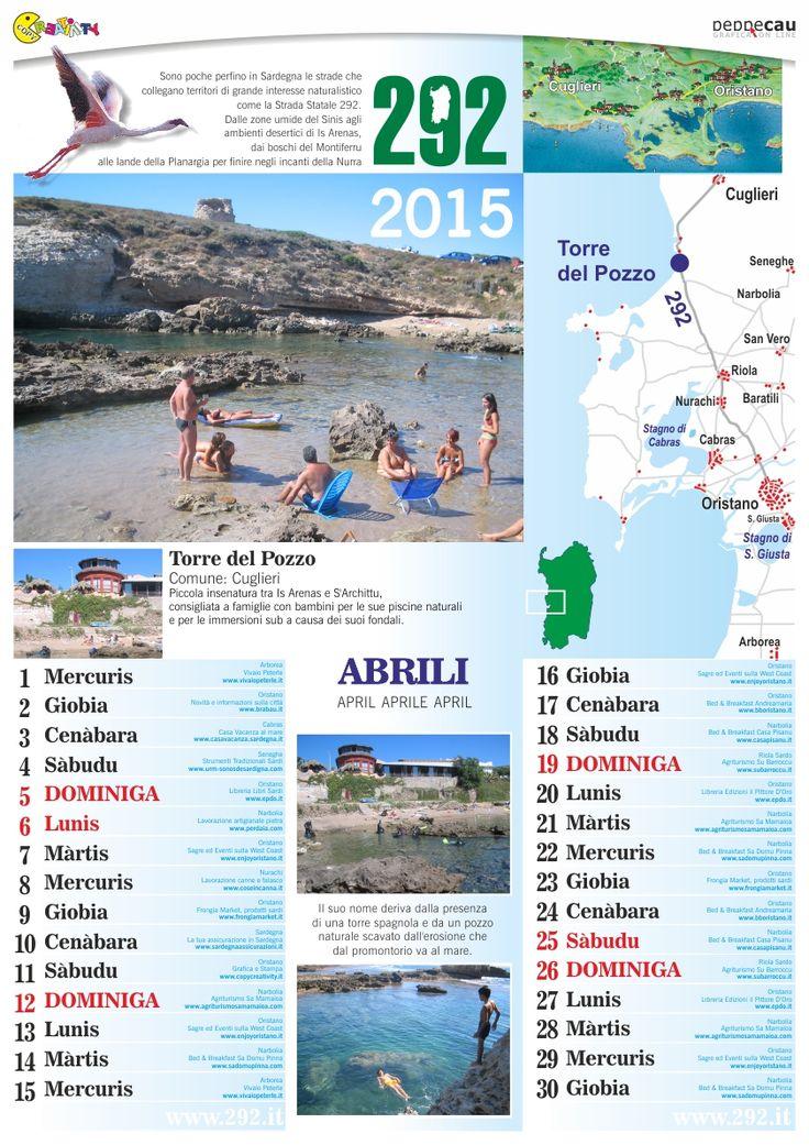 Aprile del Calendario 2015 Sardo è scaricabile GRATIS. http://www.ecau.it/2015/aprile/ Si cercano Aziende che vogliono comparire su Maggio...