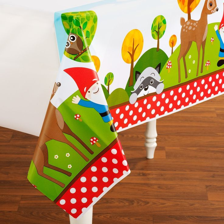 Amazon.com: Woodland Gnome Plastic Tablecover: Toys & Games