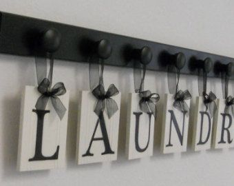 Laundry Room Decor Personalized Hanging Wall by NelsonsGifts