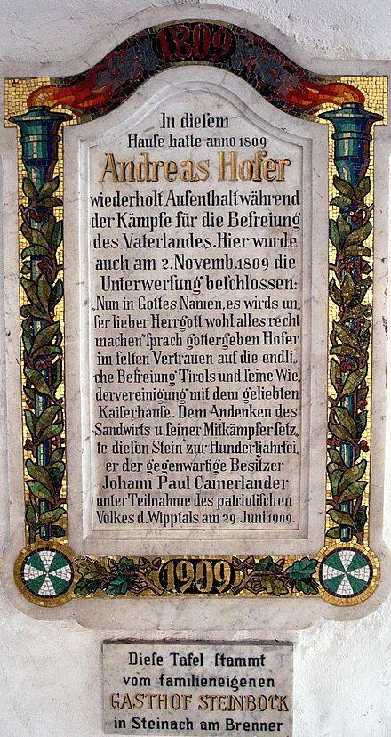 Andreas hofer auf Pinterest Nikolaus geschichte, Nikolaus - tafel für küche